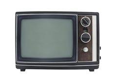 Isolerad bärbar television för liten tappning Arkivbilder