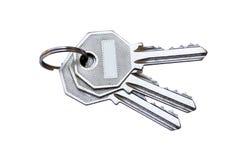 isolerad bakgrund keys white Arkivbilder