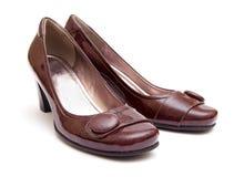isolerad bakgrund shoes den vita kvinnan Arkivfoton