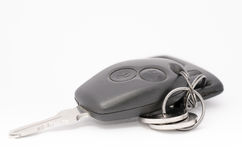 isolerad bakgrundsbilkontroll keys fjärrwhite Arkivfoto