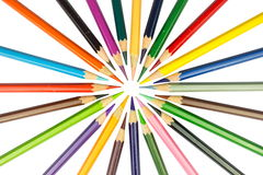 isolerad bakgrundsfärg pencils white Royaltyfria Bilder