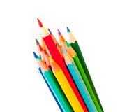 isolerad bakgrundsfärg pencils white Arkivbild