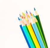 isolerad bakgrundsfärg pencils white Royaltyfria Foton
