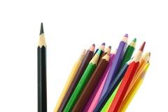 isolerad bakgrundsfärg pencils white Arkivfoto