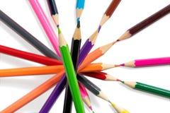 isolerad bakgrundsfärg pencils white Royaltyfri Bild