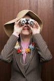 isolerad bakgrundskikareaffär se den vita kvinnan royaltyfria foton