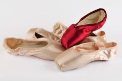 isolerad balett shoes white Royaltyfria Bilder