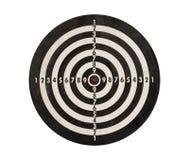isolerad bana för clipping dartboard arkivbild