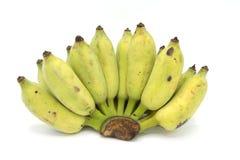 Isolerad banan på vit bakgrund Arkivbilder