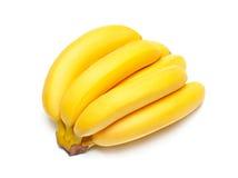isolerad banangrupp Fotografering för Bildbyråer
