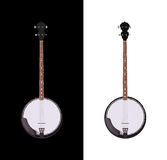 Isolerad banjo Arkivfoto