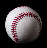 Baseball på svart bakgrund Royaltyfria Bilder