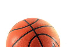 isolerad basketcloseup Arkivfoto
