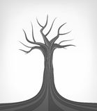 Isolerad begreppsmässig konst för dött träd Arkivfoto