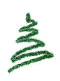 Isolerad bild av en girland i formen av en julgran Arkivbild
