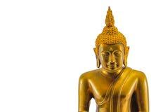 Isolerad bild för Buddha staty med vit bakgrund Arkivbilder