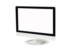 isolerad bildskärmwhite för bakgrund dator Arkivfoto