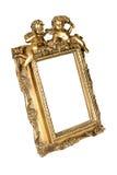 isolerad bildwhite för ram guld Arkivbild