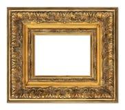 isolerad bildwhite för ram guld Fotografering för Bildbyråer