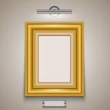 isolerad bildwhite för ram guld Royaltyfri Illustrationer