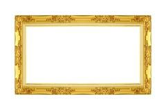 isolerad bildwhite för ram guld arkivbilder