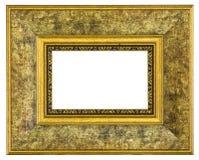 isolerad bildwhite för ram guld isolerad bana royaltyfri fotografi