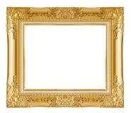 isolerad bildwhite för ram guld Isolerat över vitbakgrund Royaltyfri Fotografi
