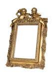 isolerad bildwhite för ram guld Arkivfoto