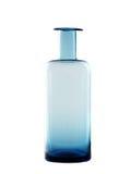 Isolerad blå flaska Royaltyfri Fotografi