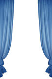 isolerad blå gardin Royaltyfri Bild