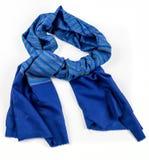Isolerad blå halsduk av pashminaen royaltyfri bild