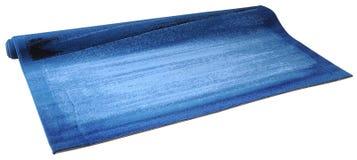 isolerad blå matta Royaltyfri Foto