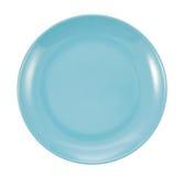 Isolerad blå platta Royaltyfri Fotografi