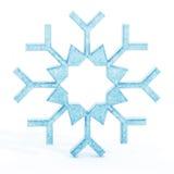 Isolerad blå snöflinga Royaltyfri Bild