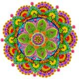 Isolerad blom- mandala Arkivfoton