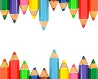 isolerad blyertspenna för färg ram Arkivfoto