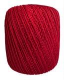 Isolerad boll av den röda tråden Royaltyfri Bild