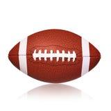 Isolerad boll för amerikansk fotboll Arkivbild
