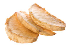 isolerad brödfrukt som stekas Royaltyfri Fotografi