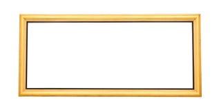 Isolerad bred guld- målningram Royaltyfria Foton
