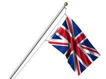 isolerad brittisk flagga Royaltyfria Bilder