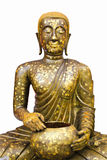 isolerad buddha guld- helgedom Arkivfoto