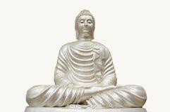 Isolerad Buddha staty Arkivfoton