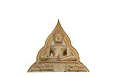 Isolerad Buddhastaty Arkivbilder