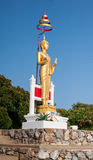 Isolerad Buddhastaty Arkivfoton