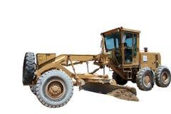 isolerad bulldozer arkivfoton