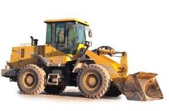 isolerad bulldozer Fotografering för Bildbyråer