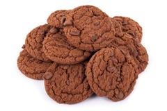 isolerad bunt för chipchoklad kaka Arkivfoton
