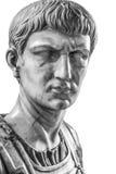 Isolerad byst av Caligula Royaltyfria Foton