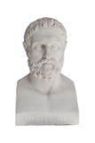 Isolerad byst av Periandros (dog i 583 för den replic Kristus) - royaltyfria foton